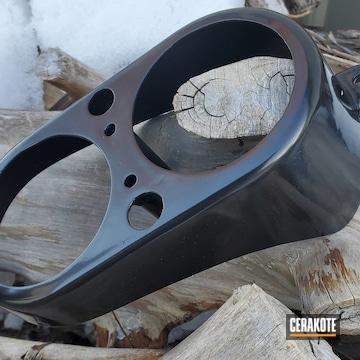 Harley Components Cerakoted Using Gloss Black