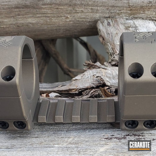 Cerakoted: S.H.O.T,Vortex,Scope Mount,Burnt Bronze H-148,Scope Rings