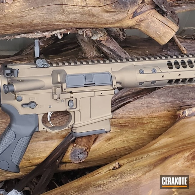 Cerakoted: S.H.O.T,Rifle,Rifles,Graphite Black H-146,Burnt Bronze H-148,Tactical Rifle,.223,.223 Wylde,LWRC,5.56