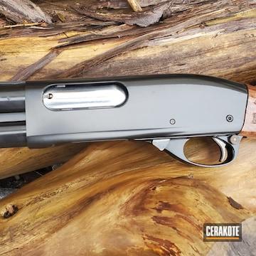 Remington 870 Shotgun Cerakoted Using Gloss Black