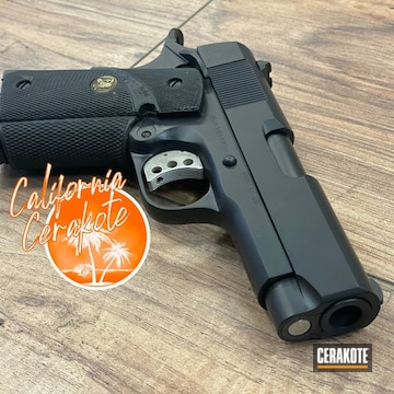 Kimber 1911 Cerakoted Using Graphite Black