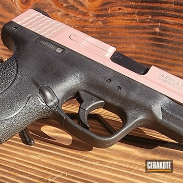 Pair Of Smith & Wesson M&p Shields Cerakoted Using Rose Gold And Mil Spec O.d. Green