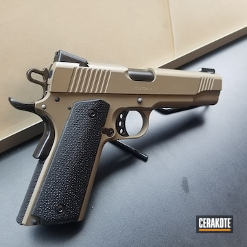 Kimber 1911 Pistol Cerakoted Using Graphite Black And Magpul® Fde