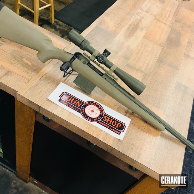 Cerakoted: S.H.O.T,Bolt Action Rifle,MAGPUL® FLAT DARK EARTH H-267,Scope Mount,Restoration,Savage,O.D. Green H-236,.308,Vortex,Scopes,Mount,Optic,Stock,Scope Rings