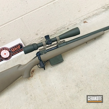 Savage Bolt Action Rifle And Scope Cerakoted Using O.d. Green And Magpul® Flat Dark Earth