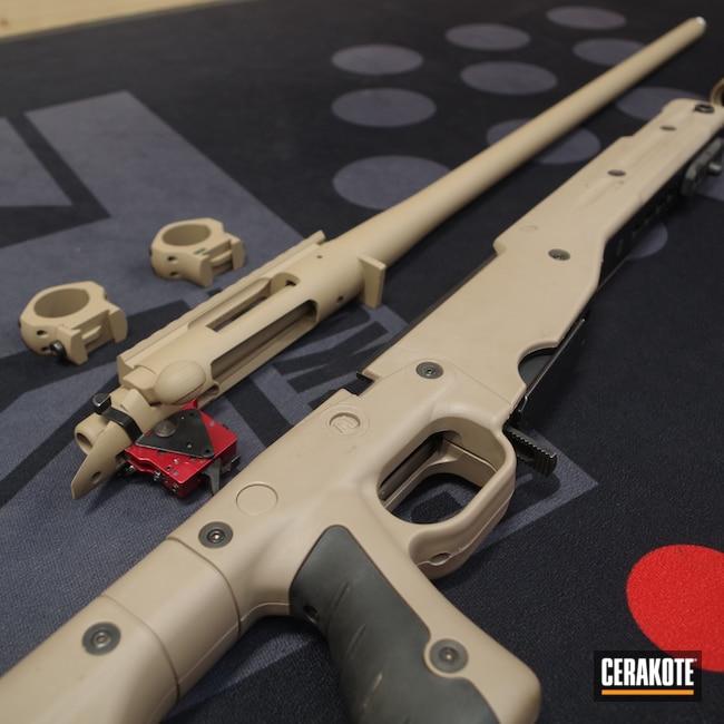 Cerakoted: S.H.O.T,Bolt Action Rifle,Desert Sand H-199,GLOCK® FDE H-261,Remington 700