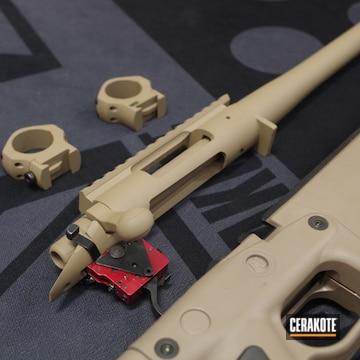 Remington 700 Bolt Action Rifle Cerakoted Using Desert Sand And Glock® Fde