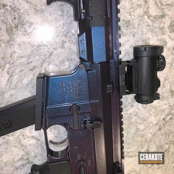 Custom Ar Pistol Cerakoted Using Graphite Black