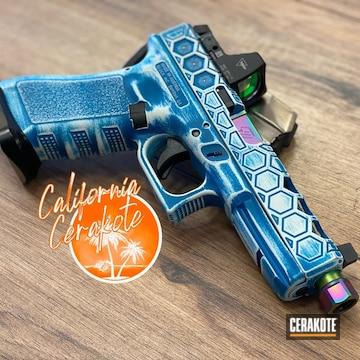 Custom Glock Cerakoted Using Stormtrooper White And Polar Blue