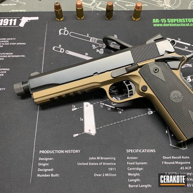 Cerakoted: S.H.O.T,BLACKOUT E-100,Hellfire,Burnt Bronze H-148,Custom 1911,Pistol,Sword and Shield,1911