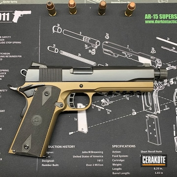 Hellfire Armory 1911 Cerakoted Using Burnt Bronze And Blackout