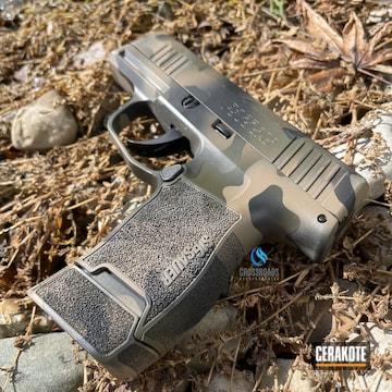 Multicam Sig Sauer P365 Cerakoted Using Glock® Fde, O.d. Green And Graphite Black