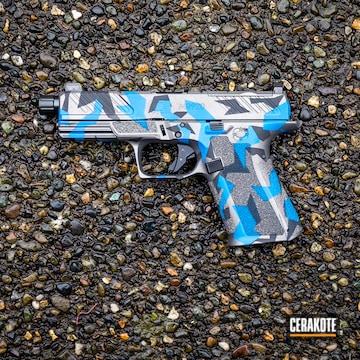 Splinter Camo Pistol Cerakoted Using Graphite Black