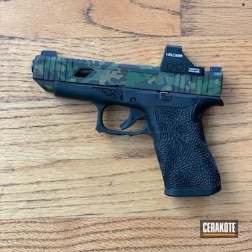 Multicam Pistol Cerakoted Using Multicam® Bright Green