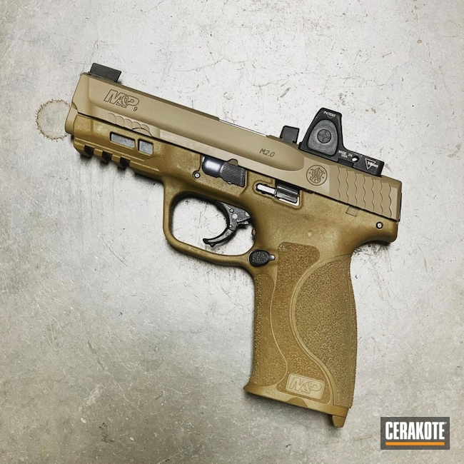 Cerakoted: S.H.O.T,M&P,Smith & Wesson,Smith & Wesson M&P,GLOCK® FDE H-261