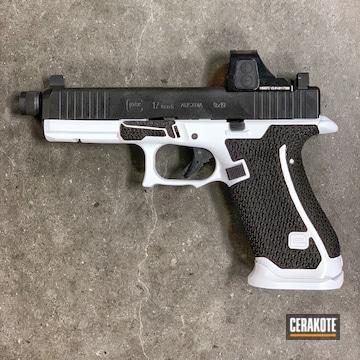 Glock 17 Pistol Cerakoted Using Stormtrooper White