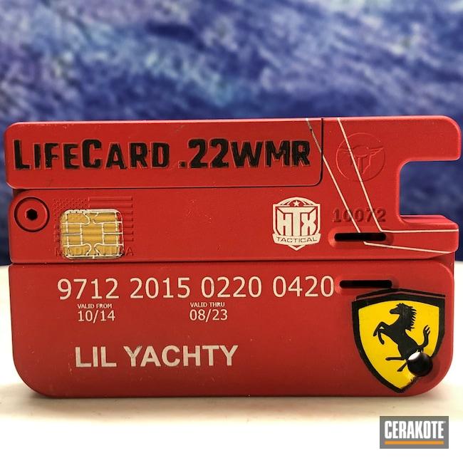 Cerakoted: S.H.O.T,Corvette Yellow H-144,Trailblazer Firearms,USMC Red H-167,LifeCard,Full Cerkote Job,Lilyachty,Gold H-122,.22
