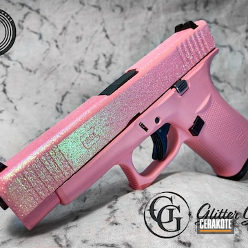 Glittered Glock Cerakoted Using Bazooka Pink