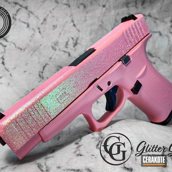 Cerakoted: S.H.O.T,9mm,Bazooka Pink H-244,Pink,Glock,g48,Cotton Candy,Barbie