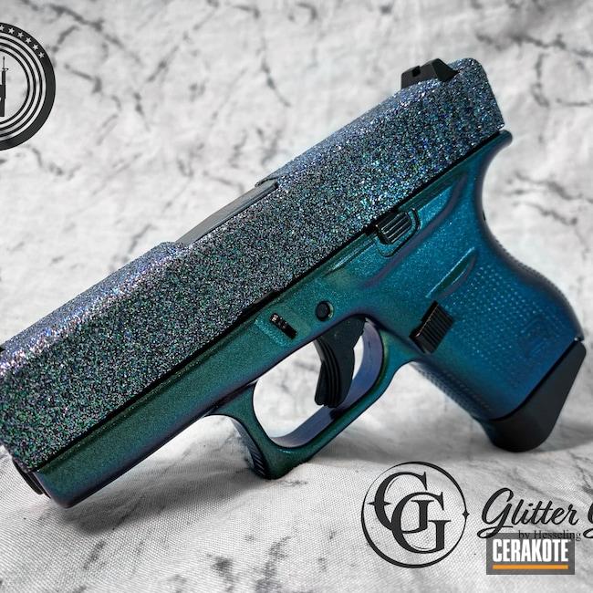 Cerakoted: S.H.O.T,9mm,Glitter,Glitter Glock,Armor Black H-190,Glock,Galaxy