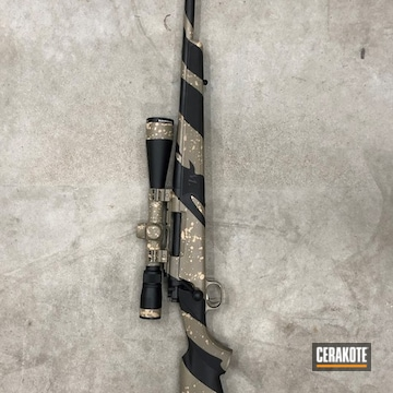 Bolt Action Rifle Cerakoted Using Desert Sand, Graphite Black And Magpul® Fde
