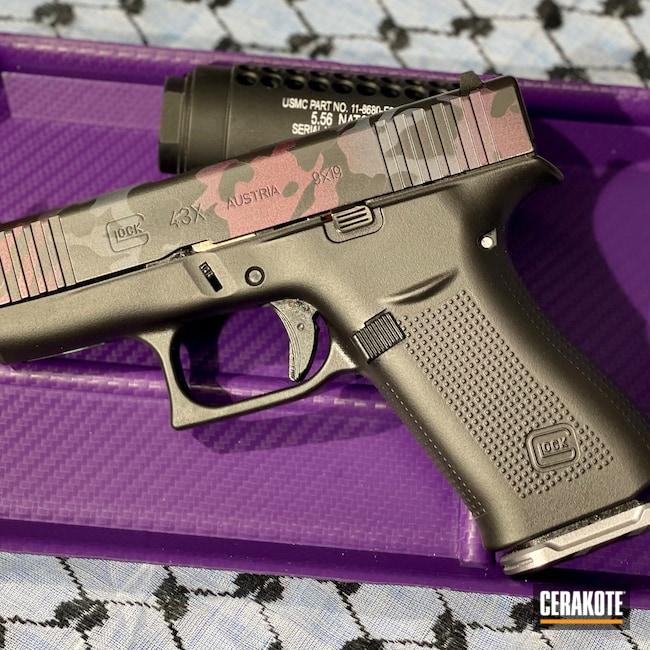 Cerakoted: S.H.O.T,Glock 43X,Graphite Black H-146,BLACK CHERRY H-319,Pistol,Glock,SIG™ DARK GREY H-210,43x