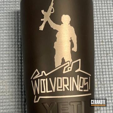 Custom Yeti Tumbler Cerakoted Using Sig™ Dark Grey