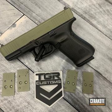 Glock 19 Pistol Cerakoted Using Forest Green