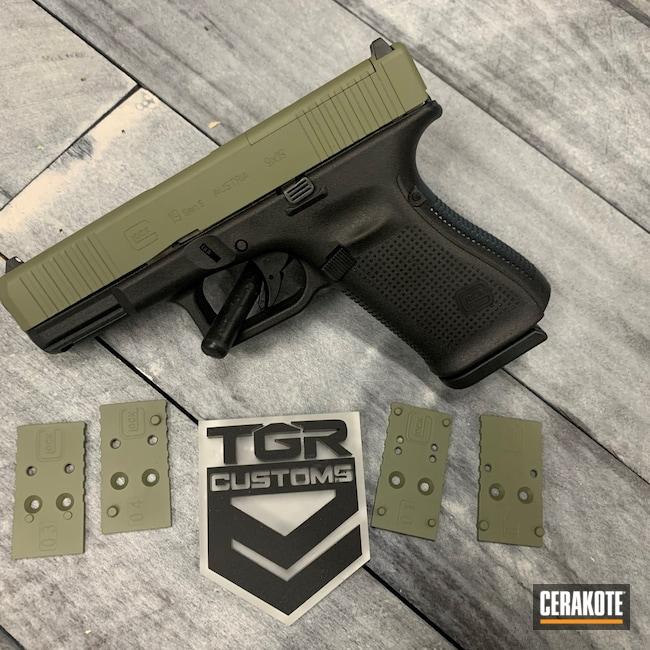 Cerakoted: S.H.O.T,Glock 19,MOS,Glock,Forest Green H-248,Yoda Green