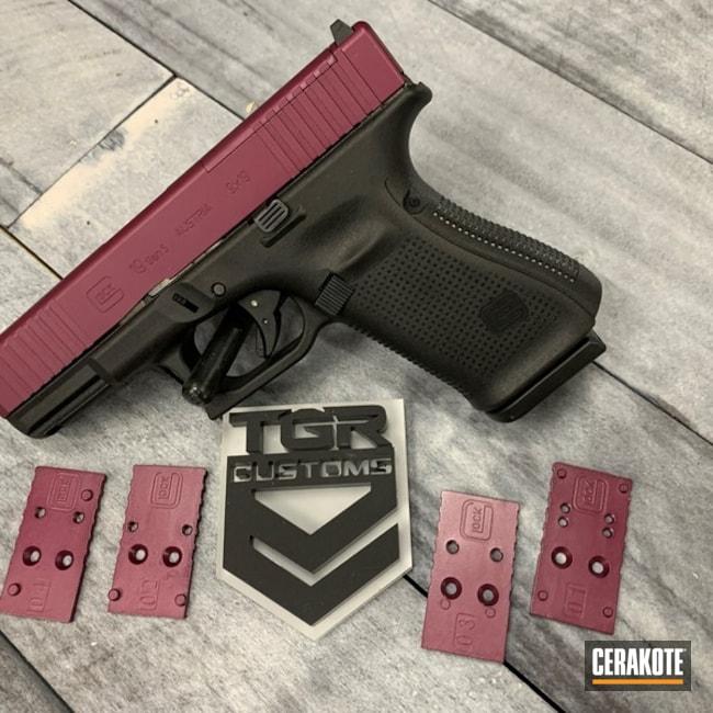 Glock 19 Pistol Cerakoted Using Black Cherry