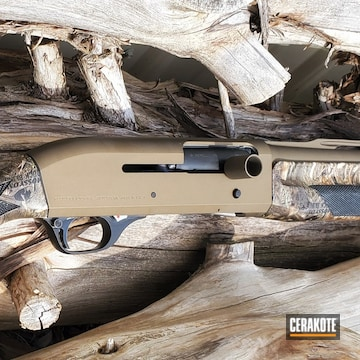 Hk Shotgun Cerakoted Using Matte Ceramic Clear, Graphite Black And Burnt Bronze