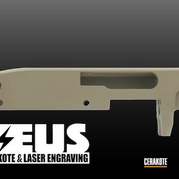Restoration Remington Shotgun Chassis Cerakoted Using Flat Dark Earth