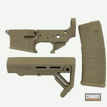 Ar Lower, Mag And Brace And Cerakoted Using Flat Dark Earth