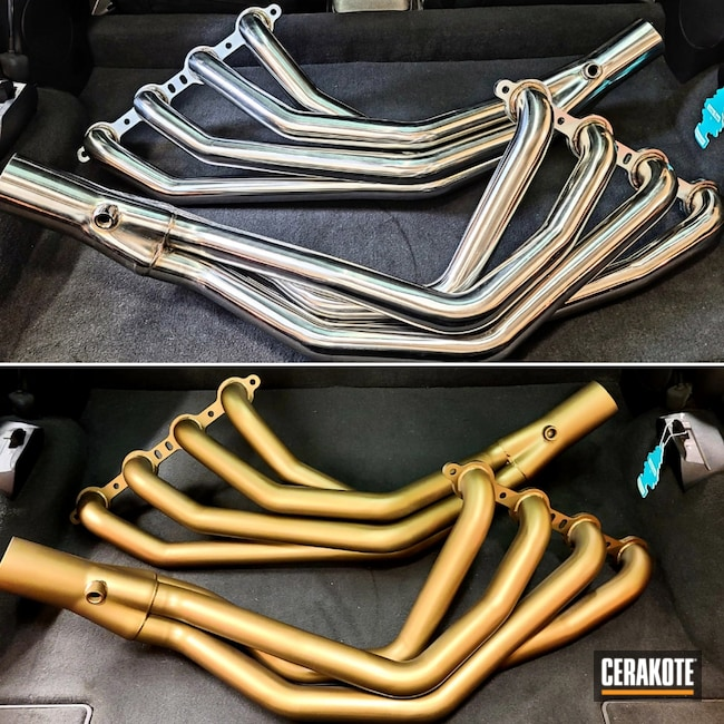 Cerakoted: Exhaust,Burnt Bronze C-148,carveth,More Than Guns,Headers,Automotive,Automotive Exhaust