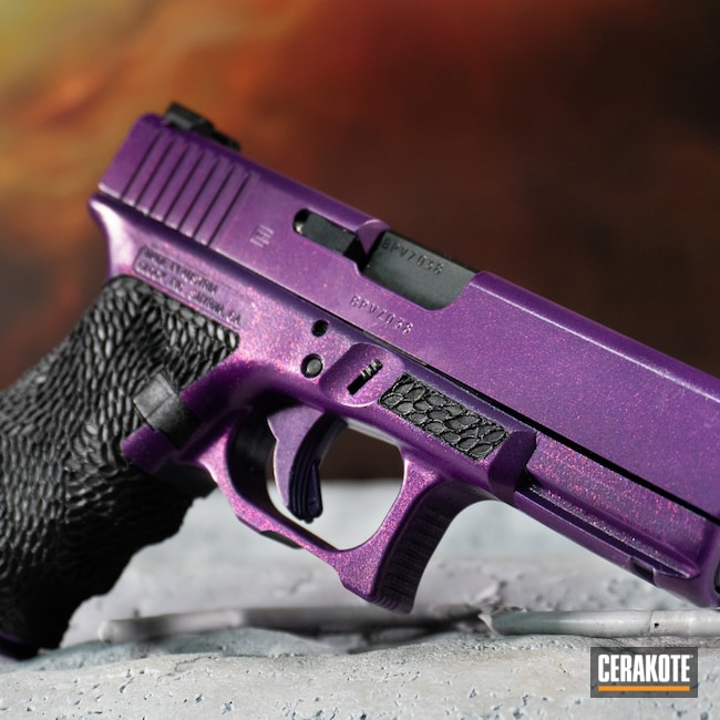 Cerakoted: S.H.O.T,9mm,PURPLEXED H-332,Handguns,Full Cerkote Job,.9,GunCandy