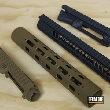 Ar-15 Handguards And Receiver Cerakoted Using Glock® Grey And Flat Dark Earth