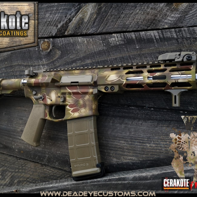 Cerakoted: S.H.O.T,MULTICAM® BRIGHT GREEN H-343,COPPER SUEDE H-310,FDE E-200,MULTICAM® DARK BROWN H-342,Highlander Kryptek,Chocolate Brown H-258