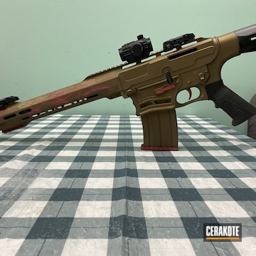 Custom Ar Cerakoted Using Crushed Silver, Burnt Bronze And Firehouse Red