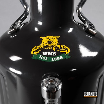 Custom Growler Cerakoted Using Sunflower, Highland Green And Bright White