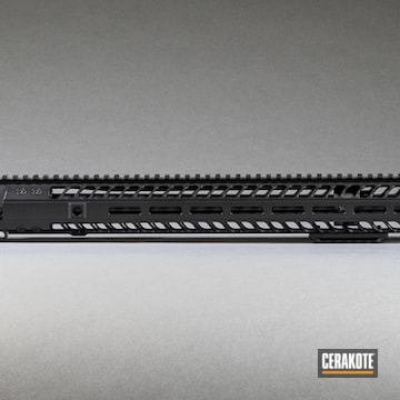 Ar Handguard And Barrel Cerakoted Using Blackout