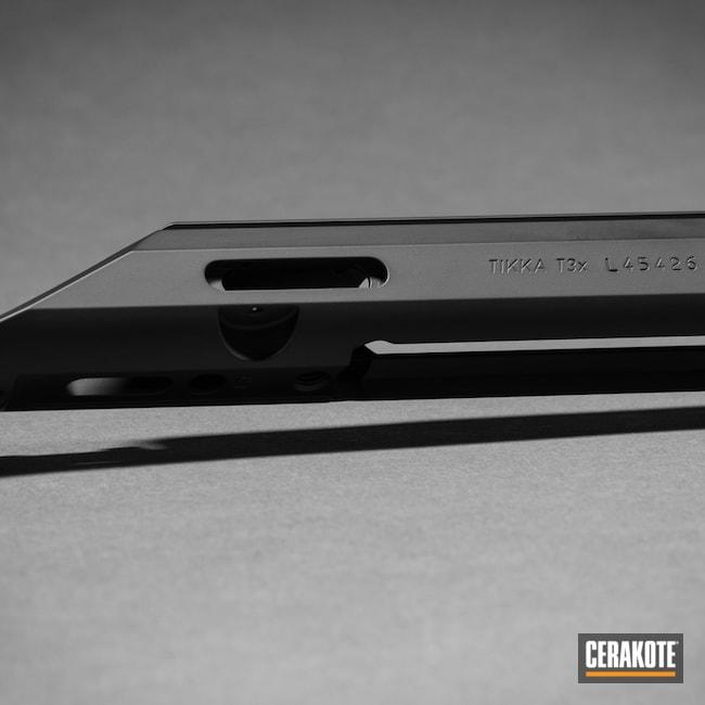Cerakoted: S.H.O.T,Bolt Action Rifle,Blue Chip Precision,Graphite Black H-146,Tikka T3