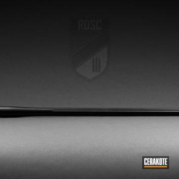 Bolt Action Rifle Barrel Cerakoted Using Graphite Black