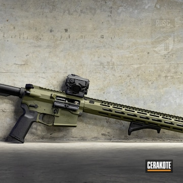 Custom Ar Build Cerakoted Using Sniper Green