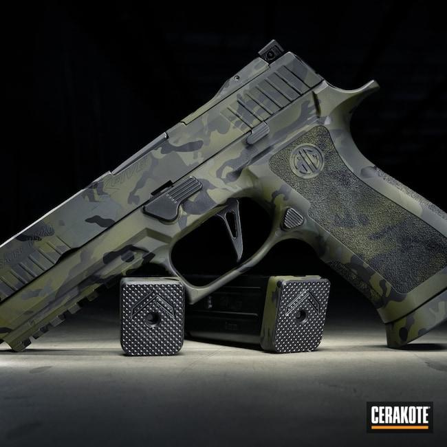 Cerakoted: S.H.O.T,Shotgun,Sniper Green H-229,Benelli M2,Graphite Black H-146,P320,Benelli,Sig Sauer,SIG™ DARK GREY H-210,MultiCam Black,Handgun