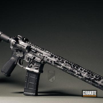 Custom Camo Noveske Ar-15 Cerakoted Using Armor Black, Titanium And Gloss Black