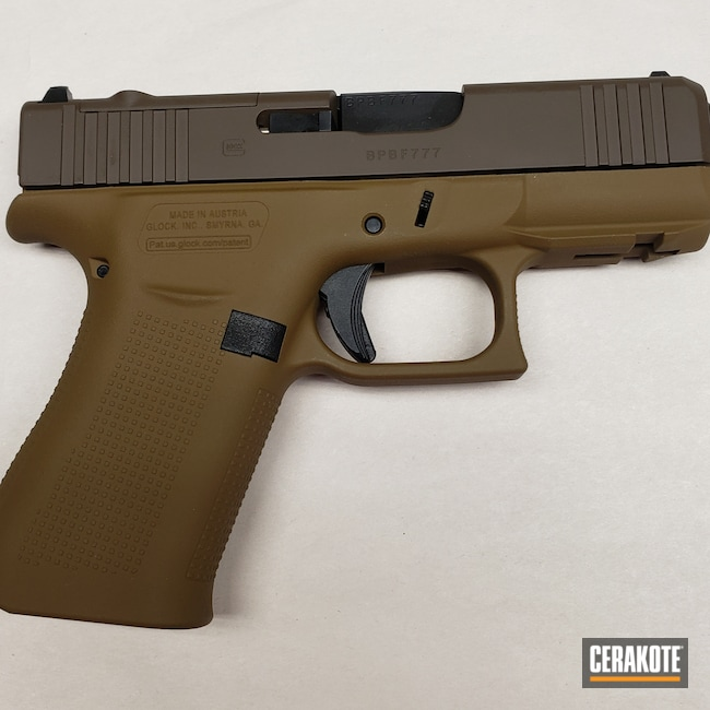 Cerakoted: S.H.O.T,Glock 43X,Pistol,A.I. Dark Earth H-250,43x,Chocolate Brown H-258,Handgun