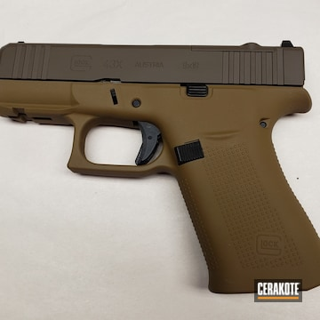 Glock 43x Cerakoted Using A.i. Dark Earth And Chocolate Brown