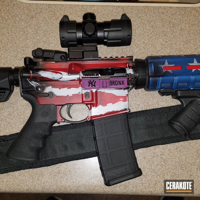 Cerakoted: S.H.O.T,Ruger,Birthday,USMC Red H-167,Armor Black H-190,Tactical Rifle,American Flag,Ruger AR556,5.56,NRA Blue H-171,Stormtrooper White H-297,B240TH,AR-15