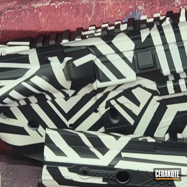 Cerakoted: Bright White H-140,S.H.O.T,AR Pistol,Graphite Black H-146,Dazzle,AR Build,AR-15