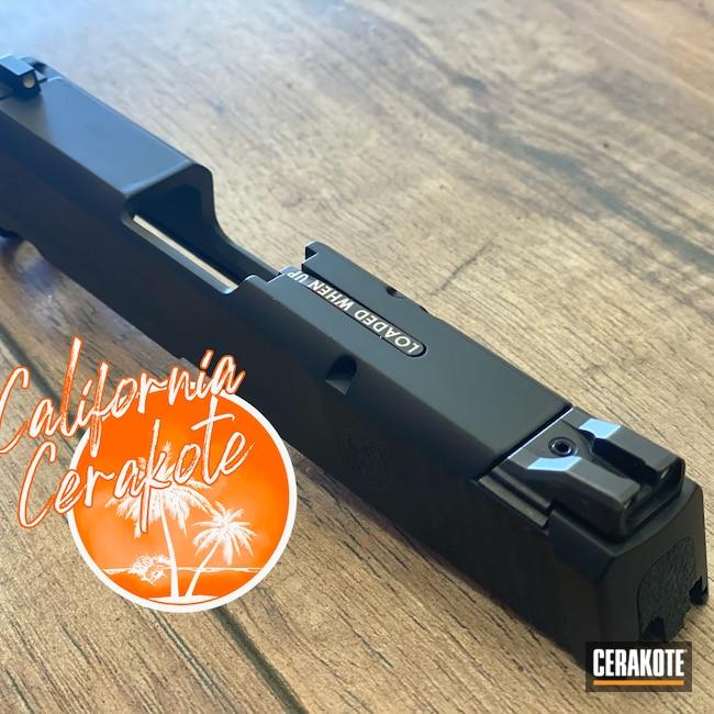 Cerakoted: S.H.O.T,M&P Shield 9mm,Graphite Black H-146,Slide,Christopher Miller,california cerakote